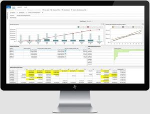 KPI-Dashboard-Business-Intelligence-Fertigung-MES